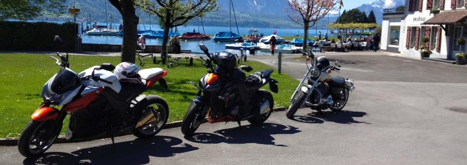 Cornelia und Markus mit Kawasaki Z1000 Cornelia und Markus mit Kawasaki Z1000 Ort: Unterseen (Thunersee, Obersteckholz, Mont Soleil, Schallenberg, Schwarzwald, Prêles)