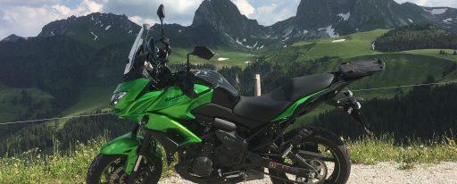 Klaus mit Kawasaki Versys Ort: Gurnigel
