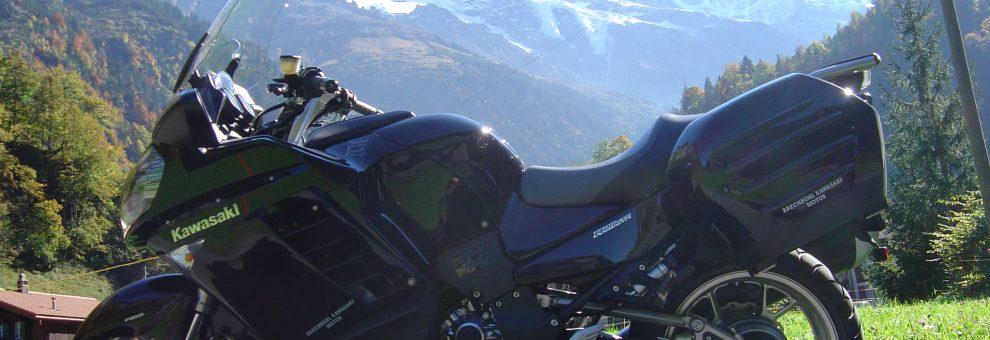 Roland mit Kawasaki 1400 GTR Ort: Berner Oberland